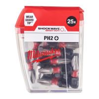 Milwaukee ruuvauskärki PH2 Shockwave 25 mm 25 kpl
