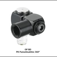 PREVOST Paineilmaliitin 360° sisäkierre G1/4F ulkokierre R1/4M