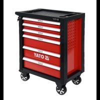 YATO Työkaluvaunu, kalustettu, 6 laatikkoa 177 osa